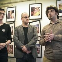 Exposition Atelier du 8, Laurent Pouget (au centre))