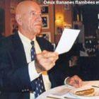 Photo Deux bananes flambées et l'addition